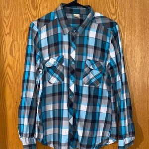 Faded glory button up